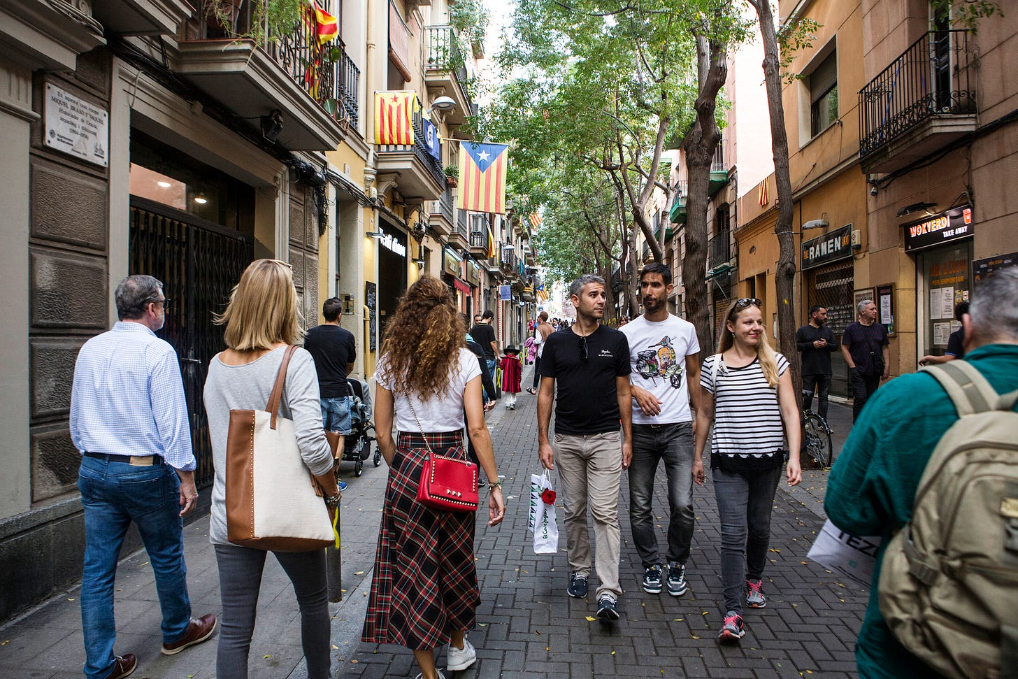 In the Gracia neighborhood superblock in Barcelona. (Picture: Maysun for Vox)