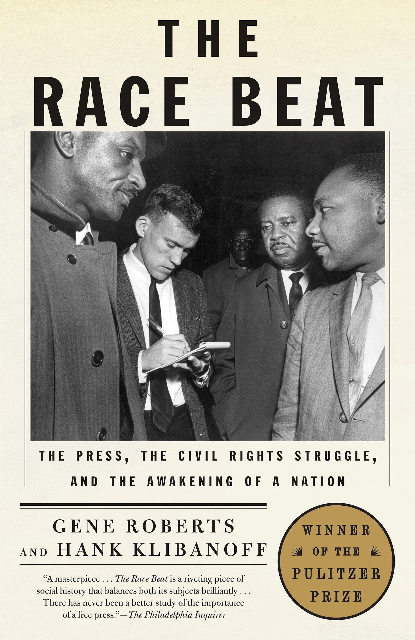The cover of The Race Beat by Gene Roberts & Hank Klibanoff