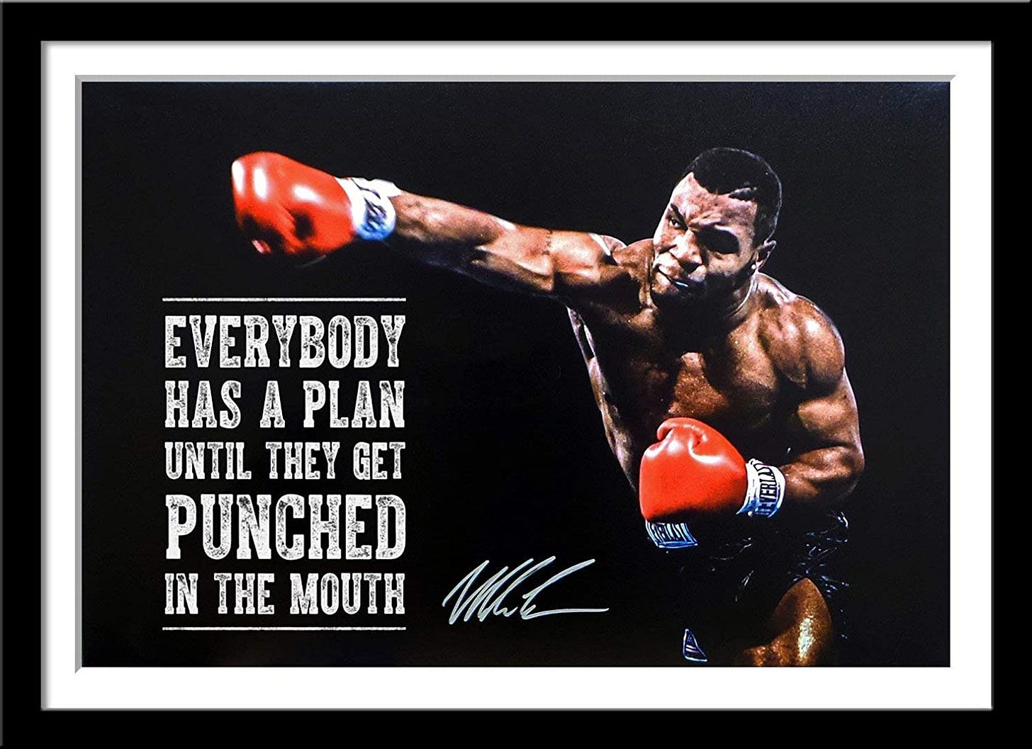 Tallenge - Mike Tyson - Everybody Has A Plan Till They Get Punched in The  Mouth - Large Poster Paper - Framed (24 x 34 inches) - Multi Colour:  Amazon.in: Home & Kitchen