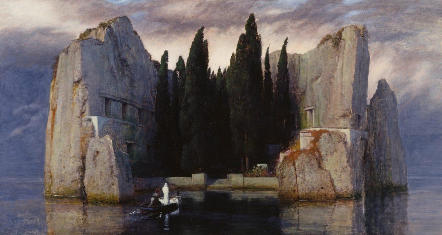 File:Arnold Böcklin - Die Toteninsel III (Alte Nationalgalerie, Berlin).jpg  - Wikipedia