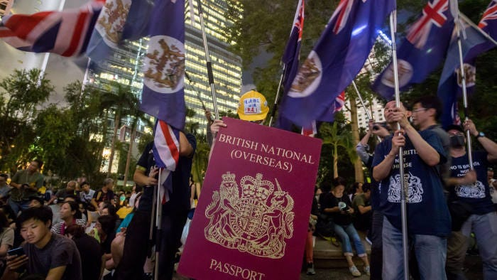 UK risks being pulled into Hong Kong crisis over citizenship row    Financial Times