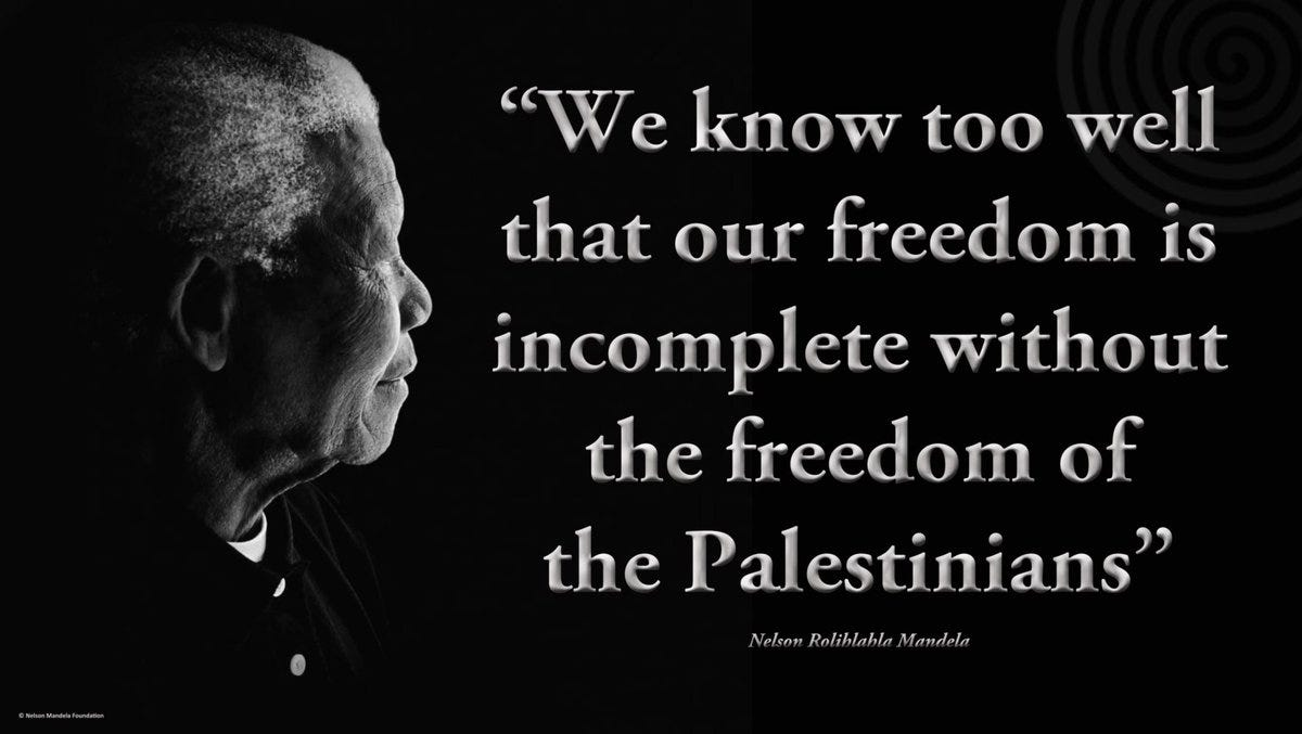 """NelsonMandela on Twitter: """"""""We know too well that our #freedom is  incomplete without the freedom of the Palestinians"""" #NelsonMandela # Palestine https://t.co/LXANFy3prF"""""""