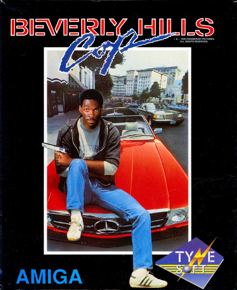 Beverly Hills Cop Amiga Front Cover