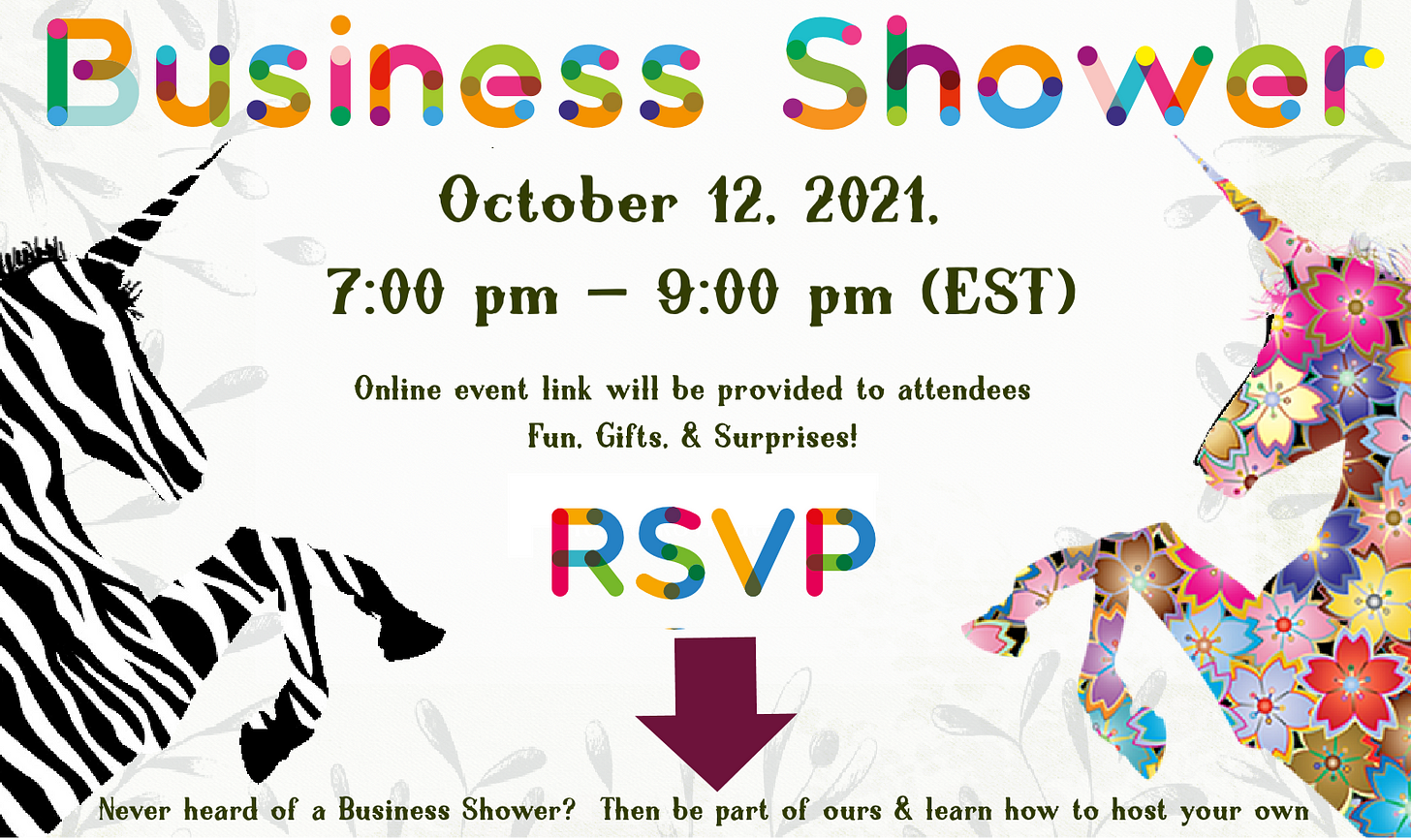 Save the  date for our How To Execute a Business Shower- Much like a Baby Shower celebrates and supports the new birth, a business shower celebrates and supports a new business that is supporting other businesses! Save the date!