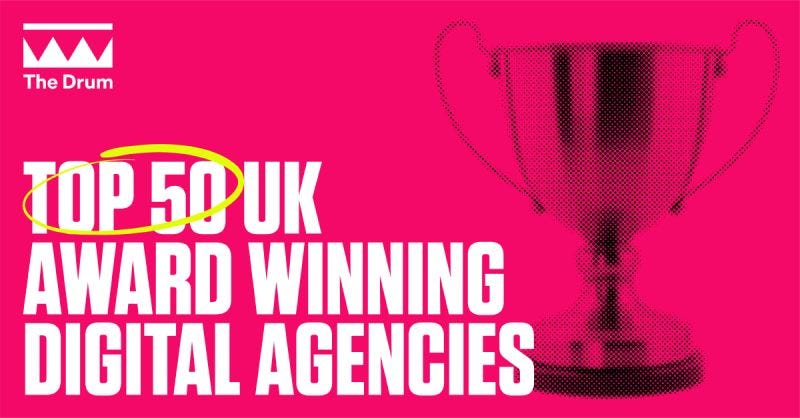 Pink background with an image of a trophy