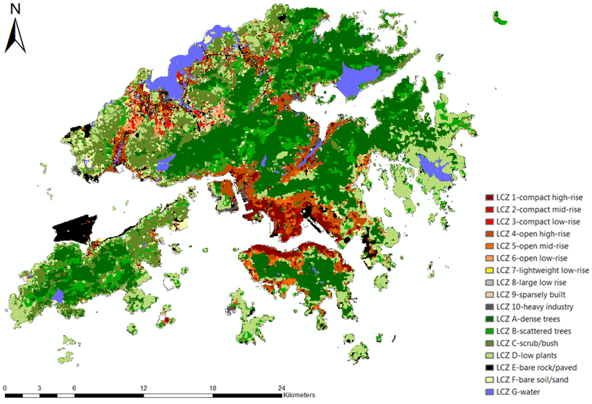 LCZ Map of Hong Kong Generated by GIS-based Method   Download Scientific  Diagram