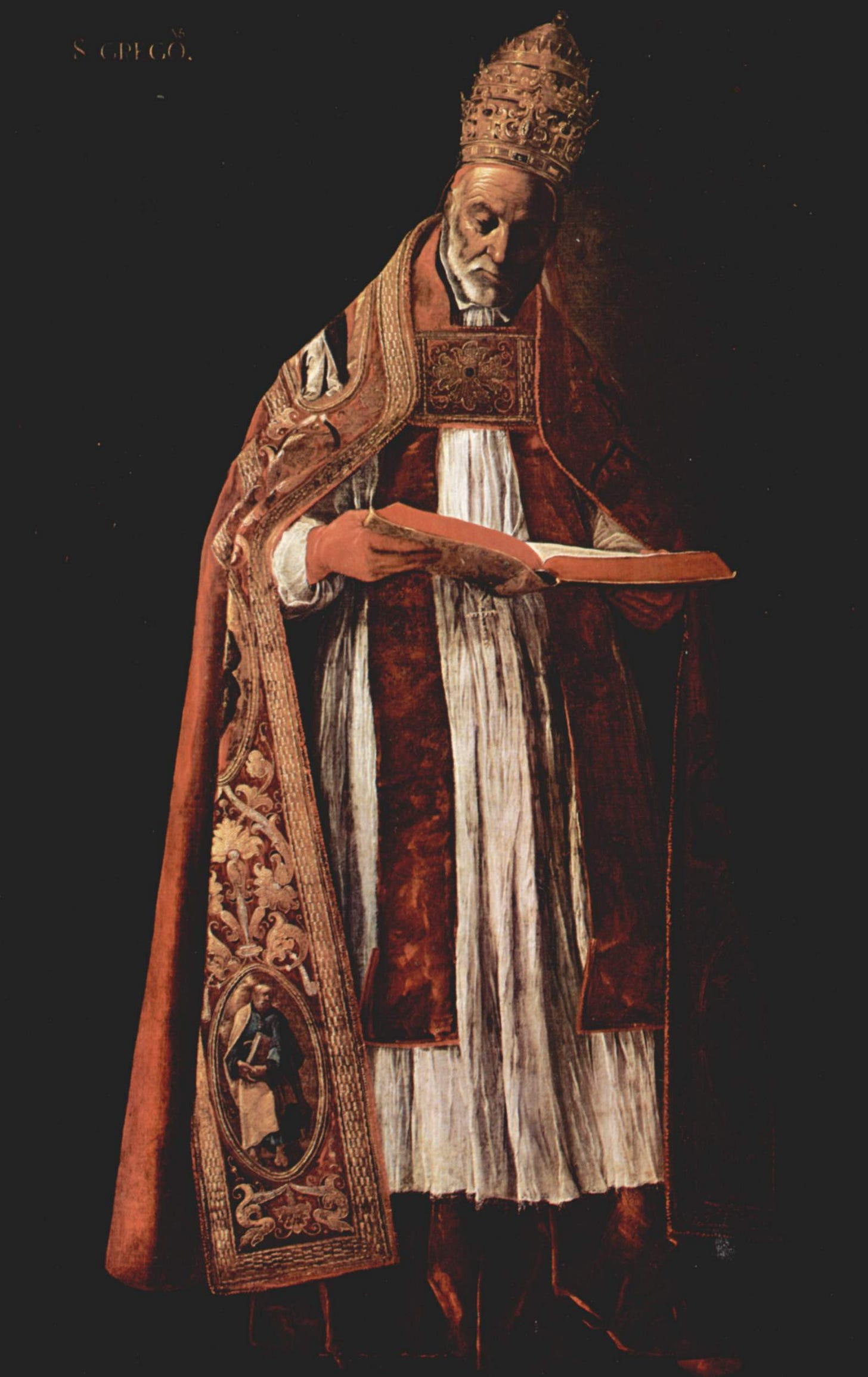"""Image result for zurbaran """"gregory the great"""""""