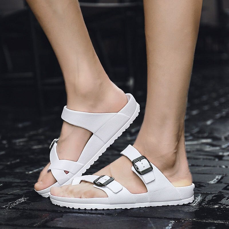 2100557408 New 2018 Summer Eva Massage Fashion Sandals Mens Flip Flops Casual Patch Breathable Men Sandalias Hombre Beach Slippers Me110 Shoes Men S Shoes