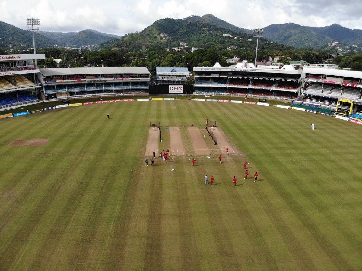 """Cameron Delport on Twitter: """"Boys working hard at training this  afternoon,cool to get some snaps from above at my favorite Caribbean  Ground🔥💯🏏See you all tomorrow night at Queen's Park Oval! @cplt20  @GYAmazonWarrior #"""