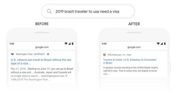 Ejemplo de cómo Google resuelve una búsqueda: el antes y el después