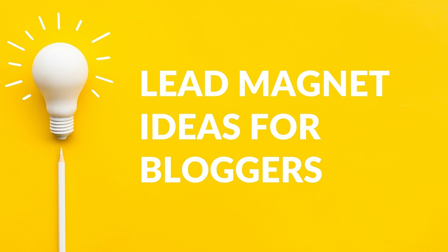 Can a blog be a lead magnet, lead manet blog, lead magnet blogging, Do lead magnets work, what is the best lead magnet, Lead magnet ideas, lead magnet ideas for bloggers