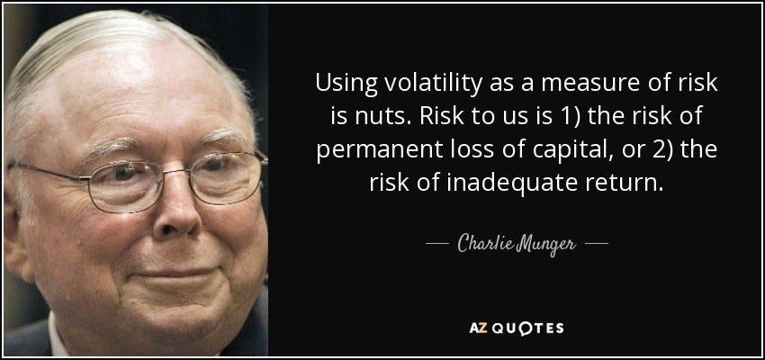 Volatility is Not Risk