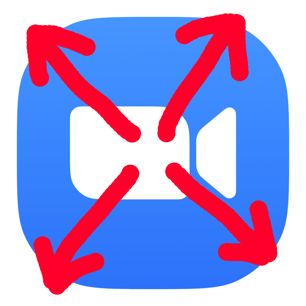 Zoom Escaper Logo: The Zoom Icon with crudely drawn arrows over it