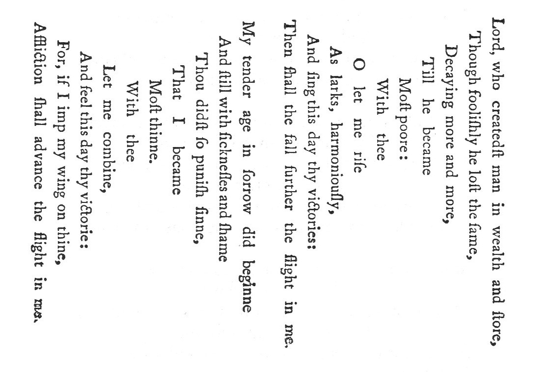 """George Herbert's """"Easter Wings"""""""