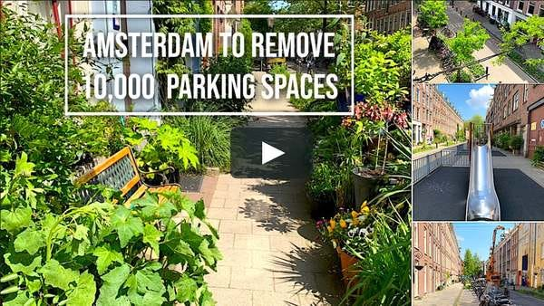 Amsterdam to remove 10,000 parking spaces