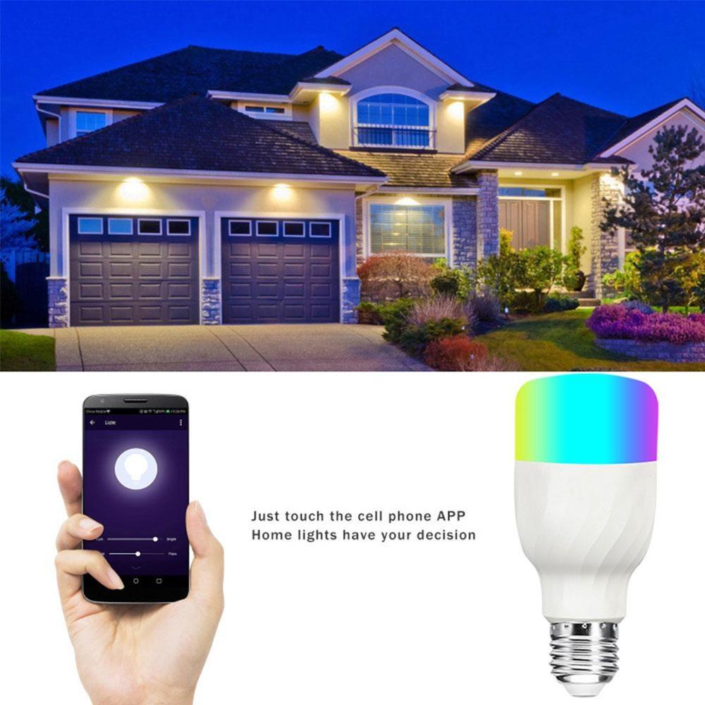 Teekar E27/E26 B22 Wifi Smart LED Bulb 85V-265V RGBW Lighting Dimmable Lamp Smart Life App Control Work With Alexa Google Home