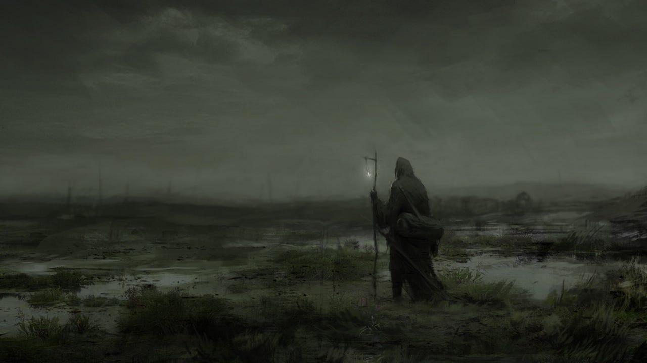 Wallpaper wanderer fog mantle art loneliness gloomy - Wallpapers HD