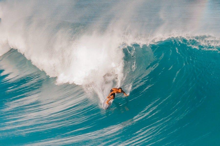 Man surfing big wave