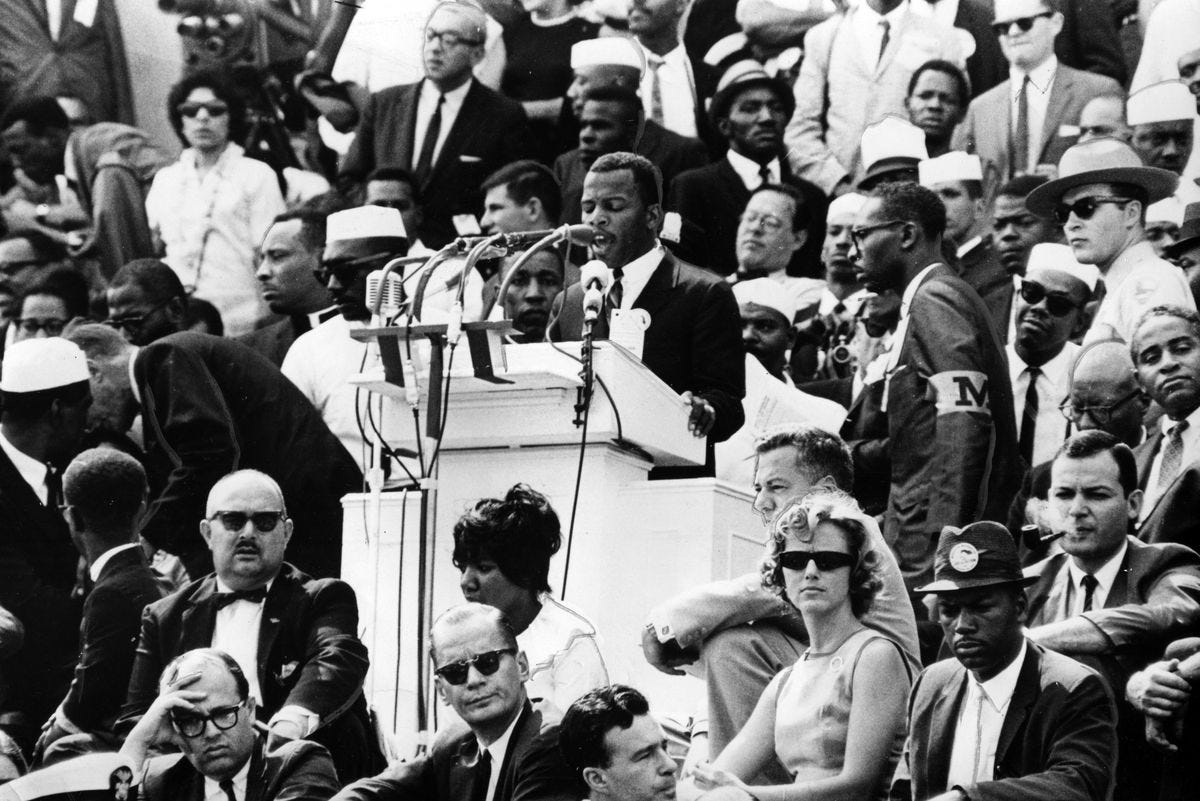 John Lewis and the March on Washington speech he never gave - Vox
