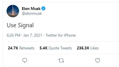 "What Does Elon Musk's ""Use Signal"" Tweet Mean – Odisha Bytes"