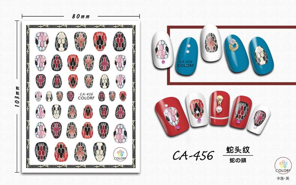 Animal Nail Decals Stickers 3D Flowers and beast Nail Stickers Nail Art Cute Colorful Nail Art Accessories