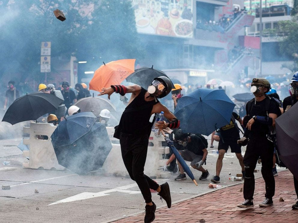 Hong Kong crippled by strike, protests - ABC News