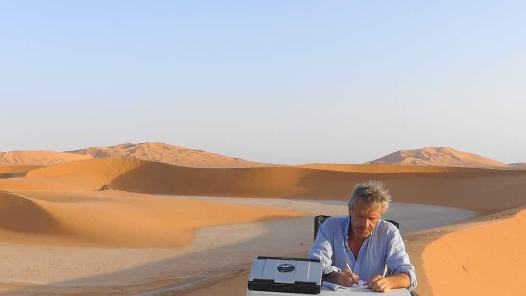 Gauthier Toumonde dans le désert d'Oman