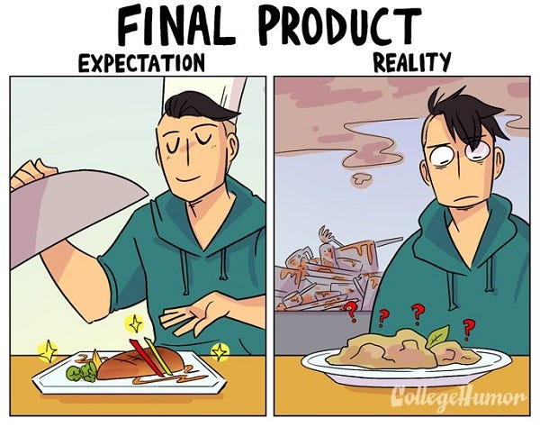 The challenge of cooking at home: expectation VS reality! - Freepik Blog