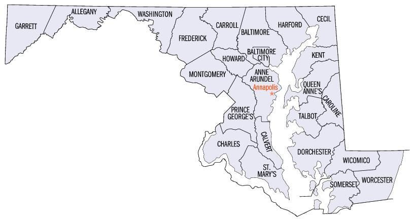 List of counties in Maryland - Wikipedia