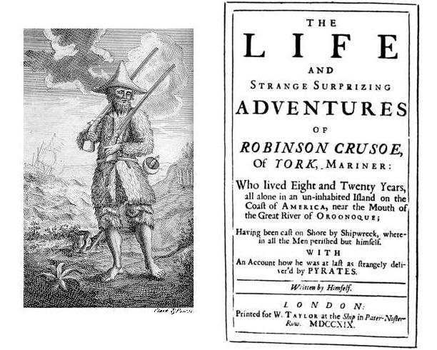 Original title page of Robinson crusoe