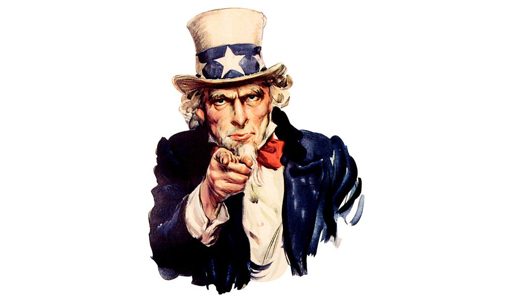 Uncle Sam and the Wagging Finger of Prayer – BLARB