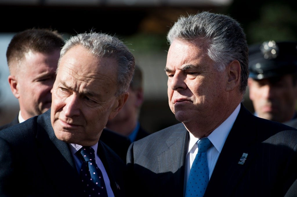 Image result for Peter King Schumer