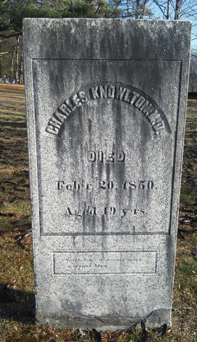 Charles Knowlton grave