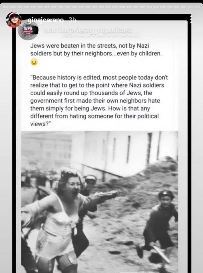 Gina Carano's Instagram post