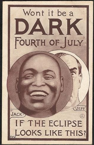 How Jack Johnson and the 4th of July gave birth to the Great White ...
