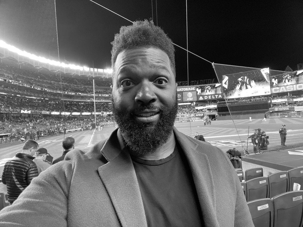 Baratunde at Game 2 of the Yankees Playoff Loss