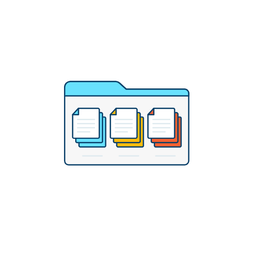 an illustration of documents and arranging data