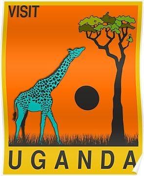 Uganda' Poster by FinlayMcNevin in 2021 | Vintage travel posters, Travel  posters, Tourism poster