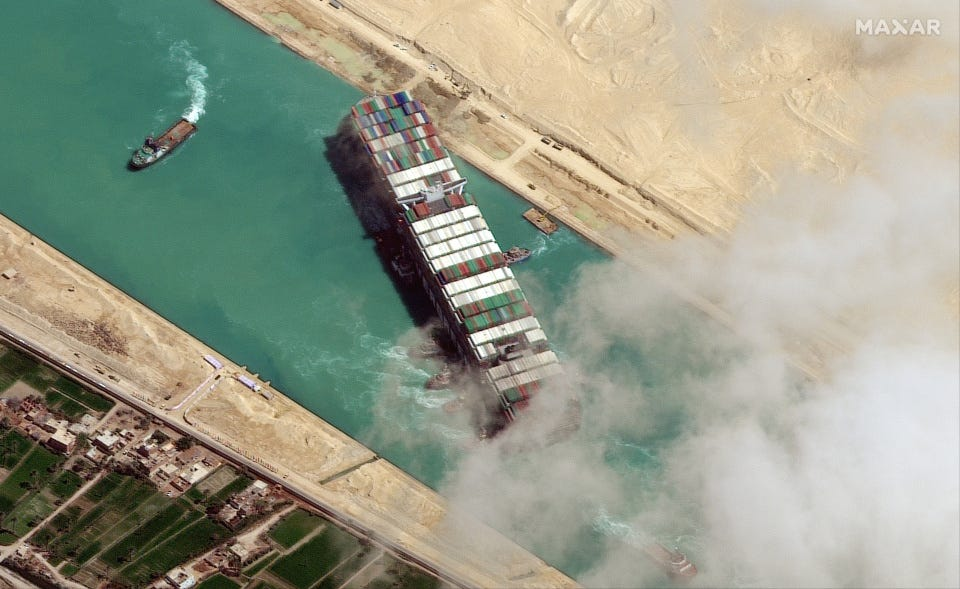 The megaship Ever Given blocked the Suez Canal for almost a week