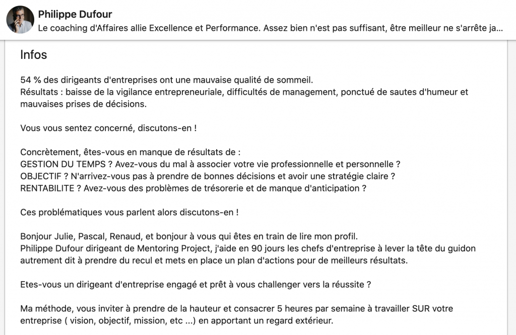info LinkedIn - Le Puy de la Com