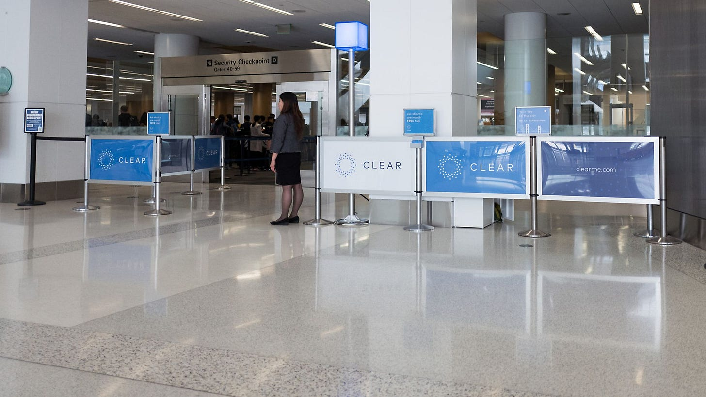 Image of CLEAR airport security checkpoint