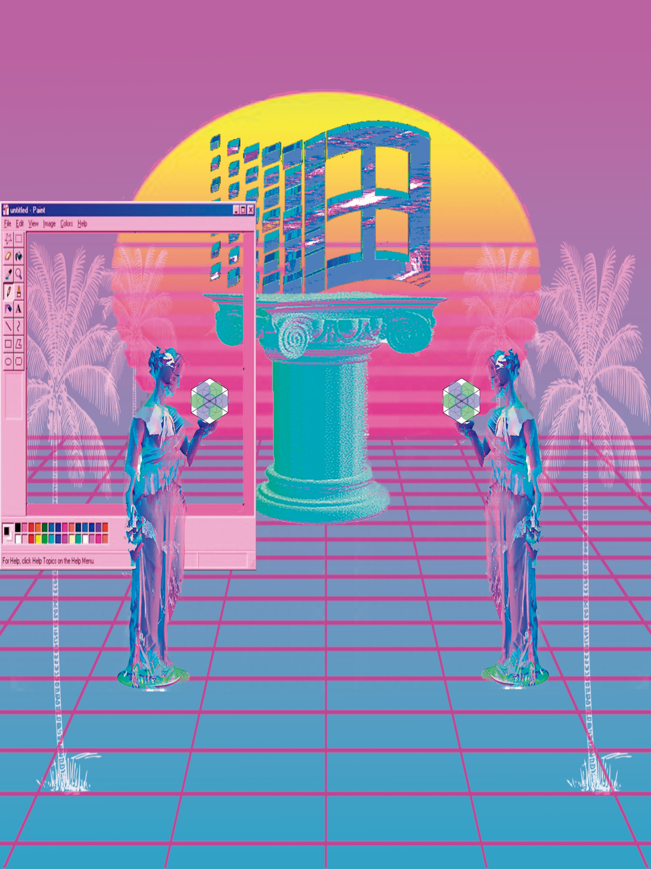 """""""Evolution"""" and life in vaporwave flavours. (48475685782).png"""