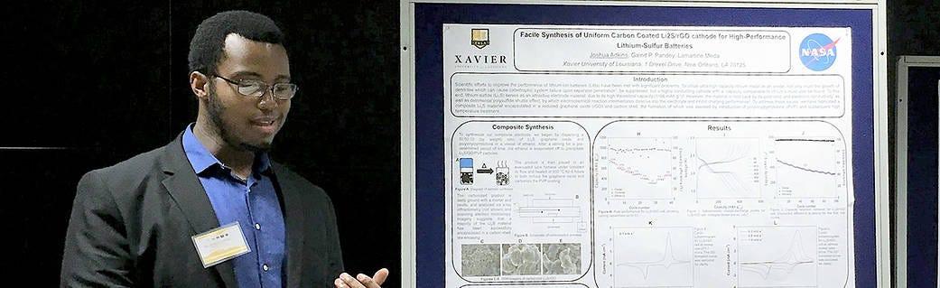 Joshua Adkins giving a presentation