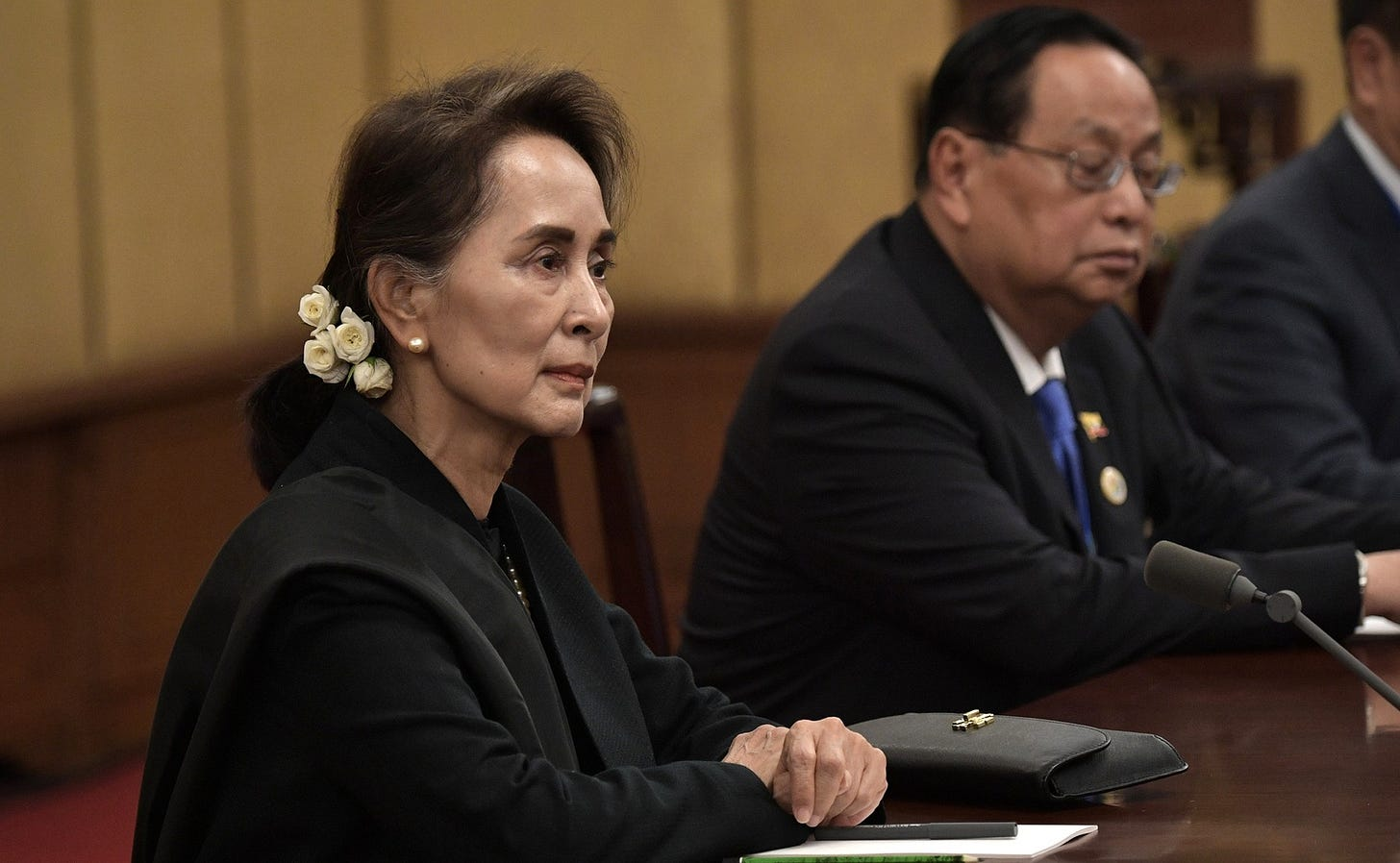 Photo of Myanmar leader Aung San Suu Kyi