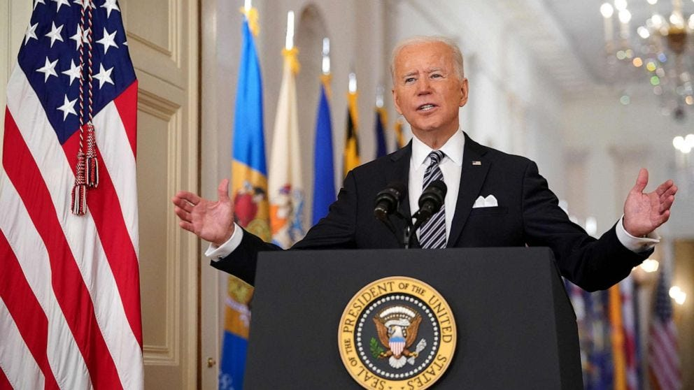 Transcript: Joe Biden delivers remarks on 1-year anniversary of pandemic -  ABC News