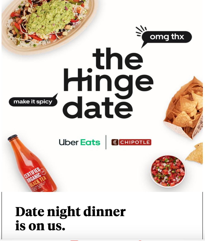 """Résultat de recherche d'images pour """"uber eats and chipotle date night"""""""