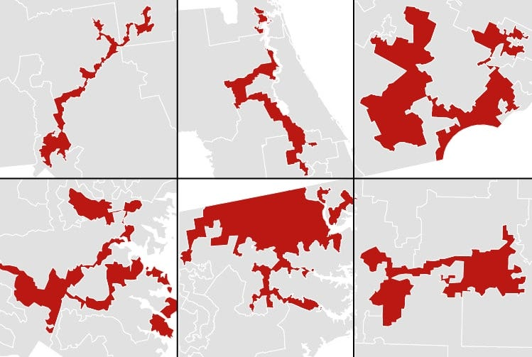 America's most gerrymandered congressional districts - The Washington Post