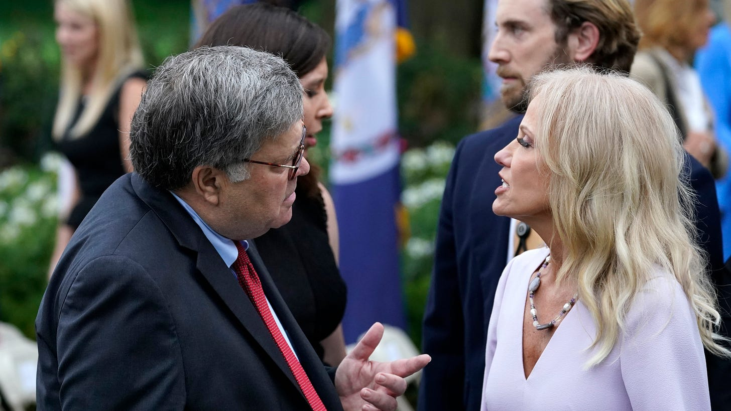 The Latest: Kellyanne Conway tests positive for coronavirus