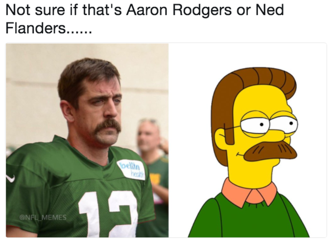 Aaron Rodgers' Mustache   Know Your Meme
