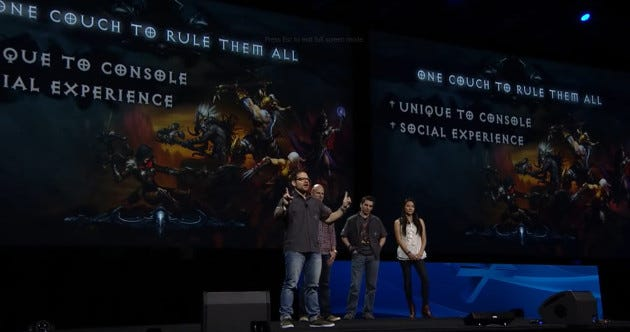 PlayStation Experience Diablo III transition from PC to PS4